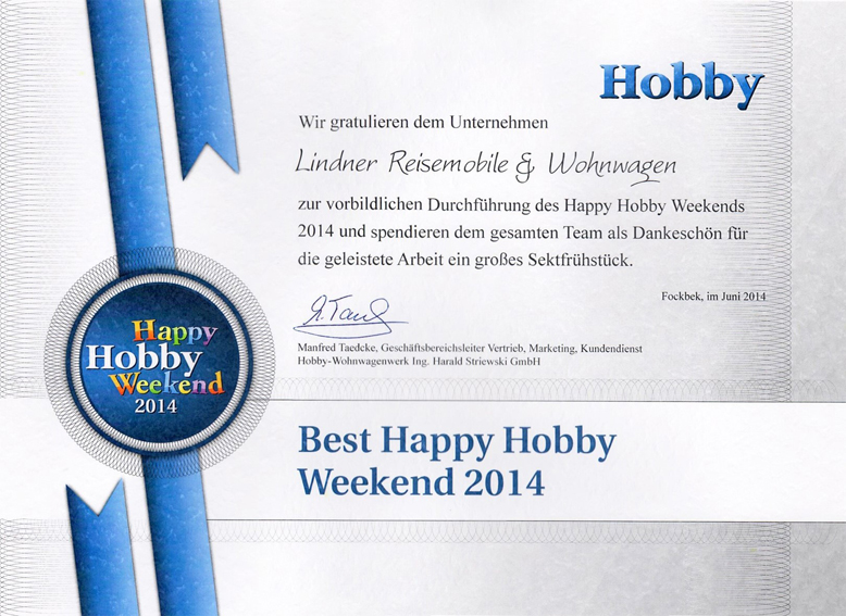 2014 - Best Happy Hobby Weekend