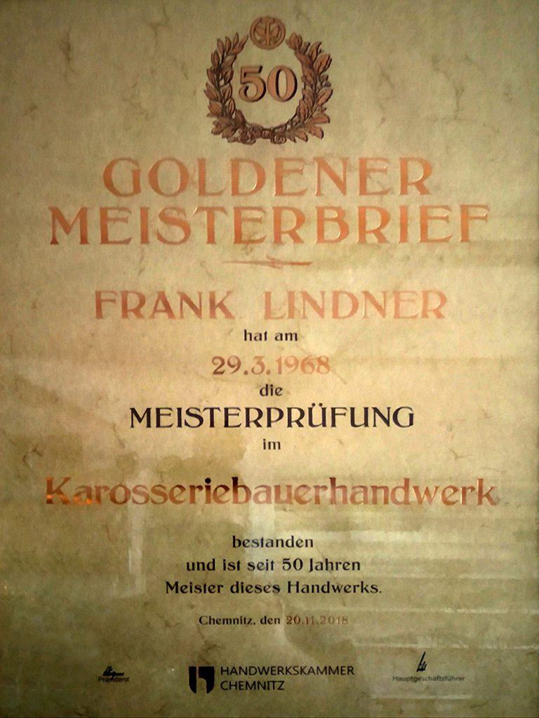 2018 - Goldener Meisterbrief